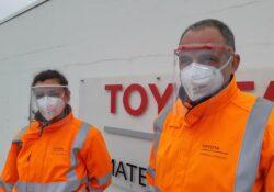 Des visières chez Toyota